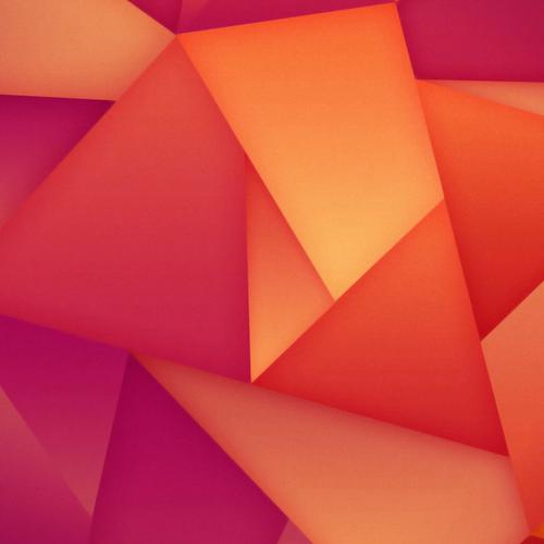 Orange triangle wallpaper