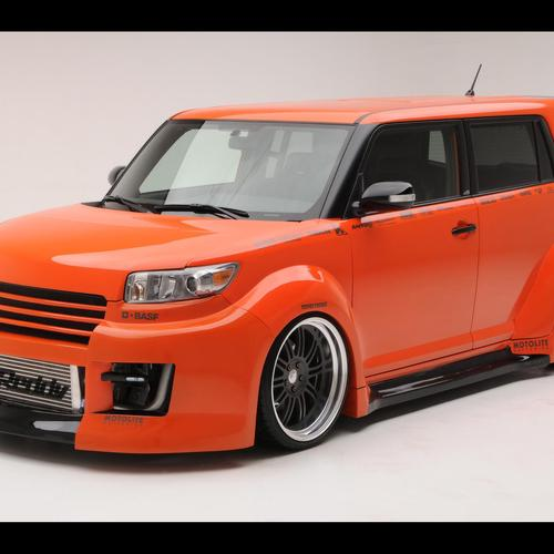 Orange tuned van