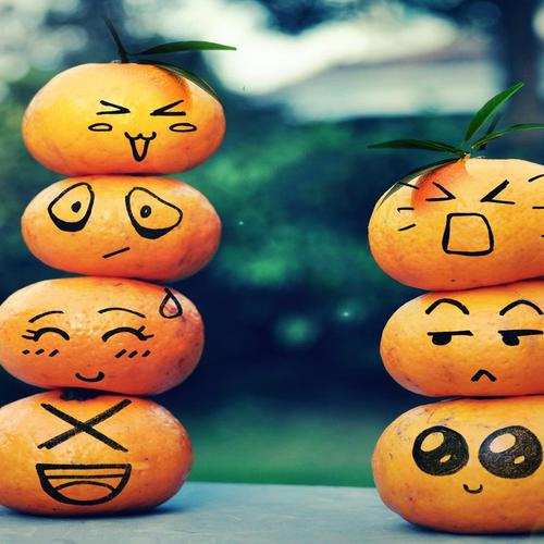 Oranges emoticons wallpaper