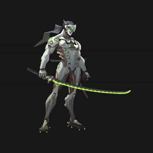 overwatch genji dark art illustration game