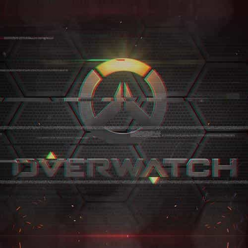 overwatch logo game art illustration