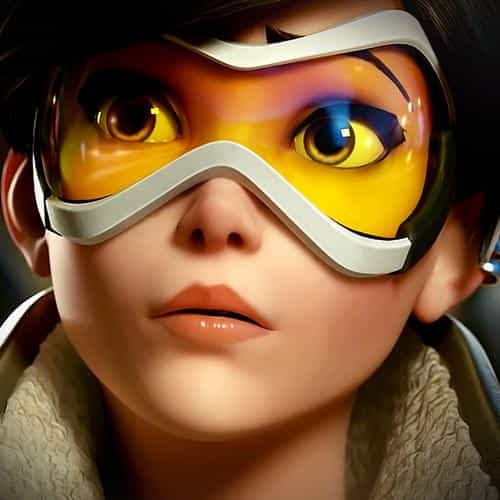 overwatch tracer england game art illustration