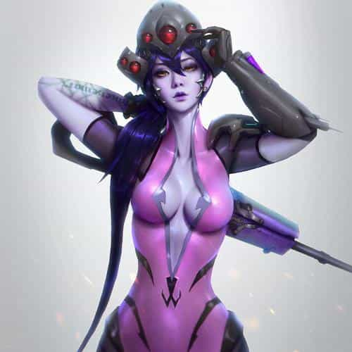 overwatch widowmaker paul kwon illustration art