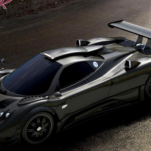 Pagani Zonda-r roadster carbon fiber wallpaper