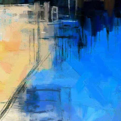 paint art blue illust diet abstract