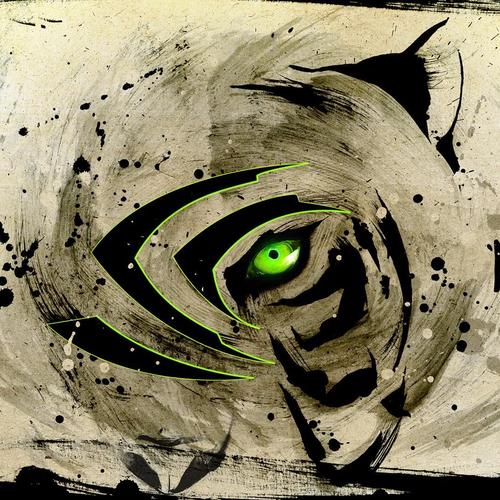 Painting of a Tiger with green eye
