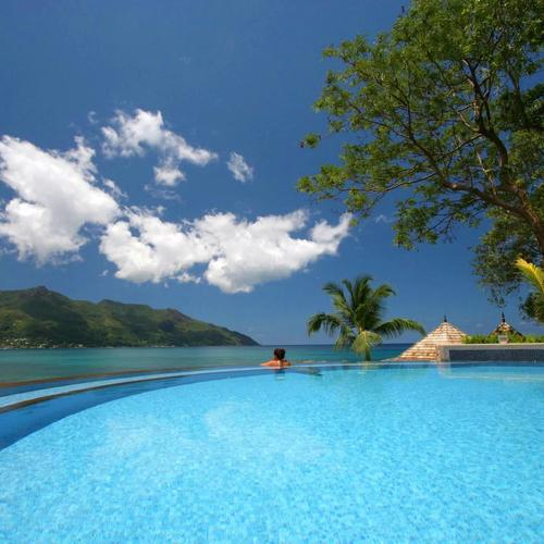Paradise Swimming Pool Polynesia wallpaper