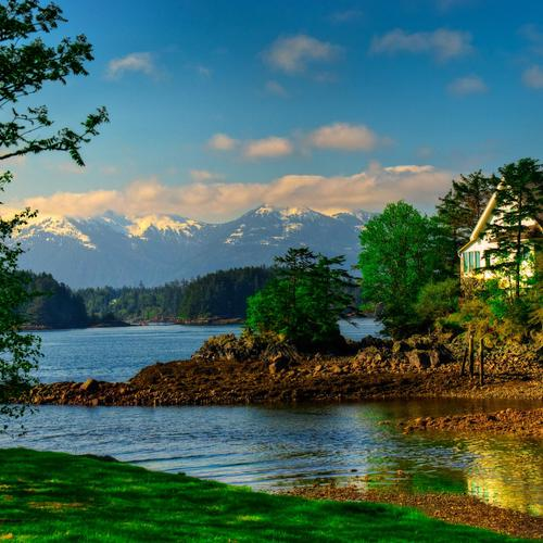 Peaceful river in Sitka wallpaper