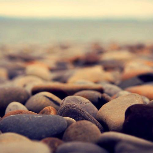 Pebbles on the beach wallpaper
