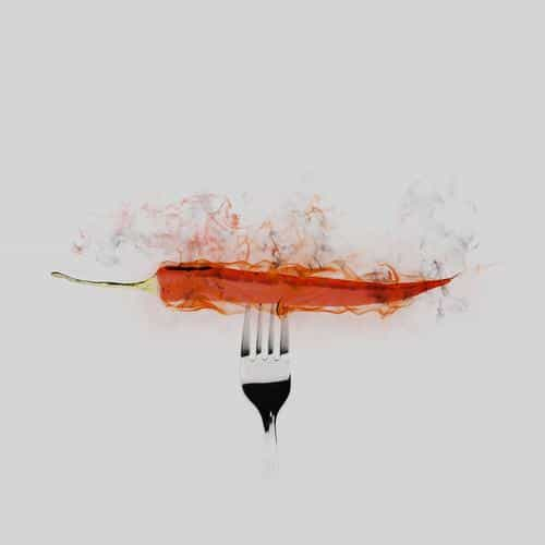 pepper red hot food art white