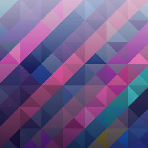 Perfect purple abstract triangle wallpaper