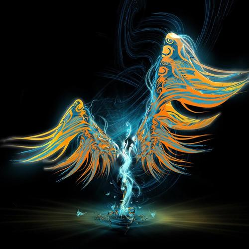 Pin abstract angel Bureaublad Achtergronden wallpaper