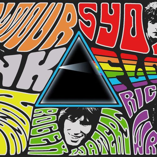 Pink Floyd Dark Side Collage wallpaper