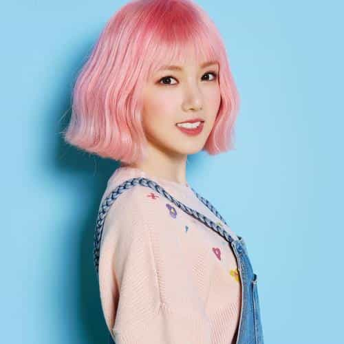 pink hair asian kpop girl