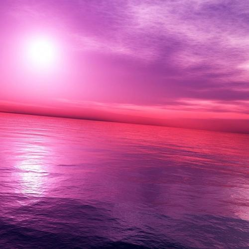 Pink sky and ocean wallpaper