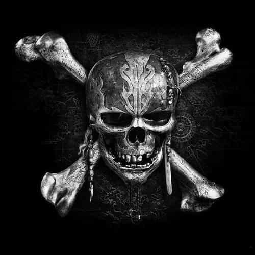 pirates dark skull art illustration bw