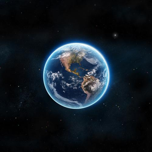 Planet Earth in space wallpaper