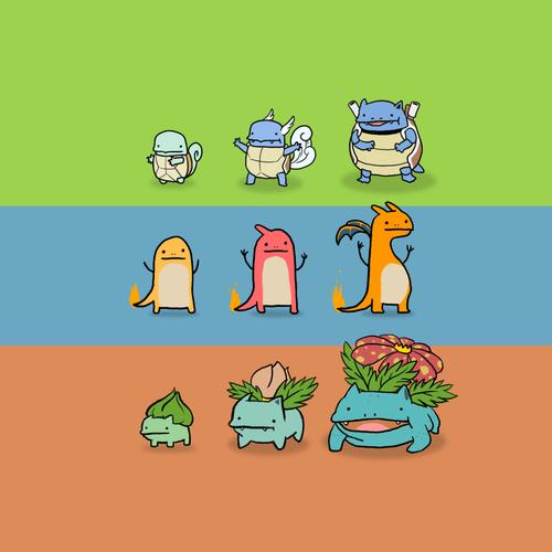 Pokemon evolution wallpaper
