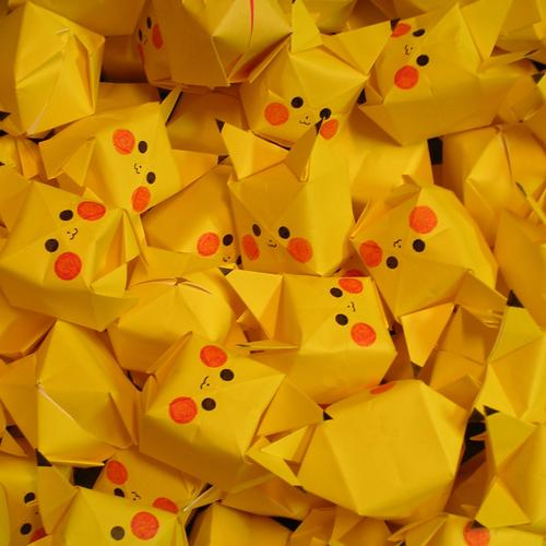 Pokemon Pikachu Cubes behang