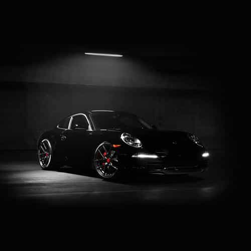 porsche illustration art super car black dark