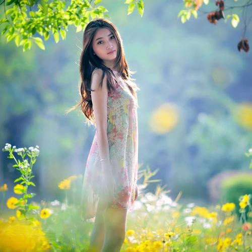 Pretty asian girl tapeta