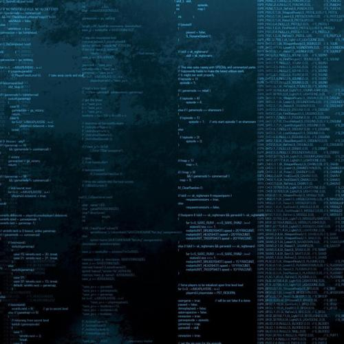 Programming code matrix wallpaper
