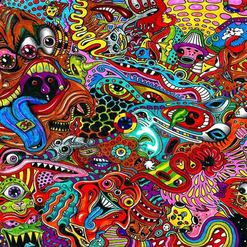 Psychedelic Faces wallpaper