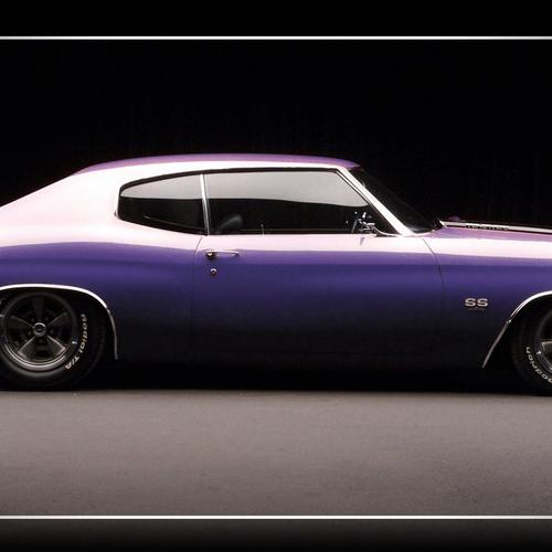 Purple antique car