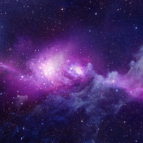 Purple galaxy smoke wallpaper