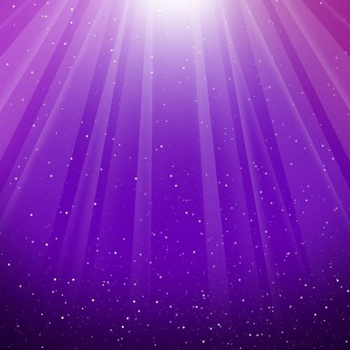 Purple light in galaxy