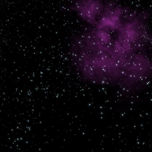Purple smoke in galaxy