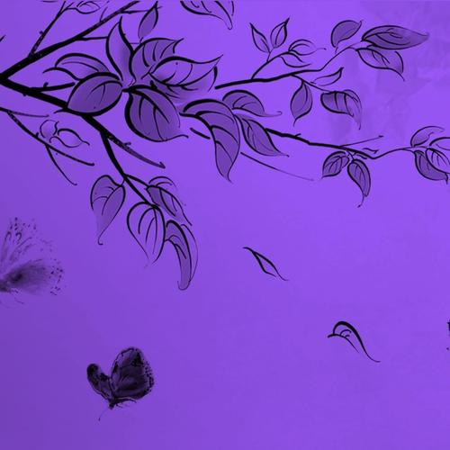 Purple with butterflies wallpaper