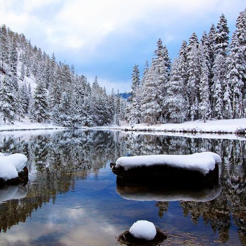 Quiet Lake in winter