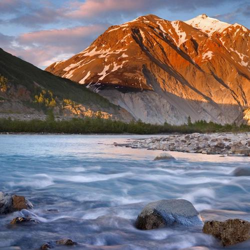 Raging Alsek River in British Columbia
