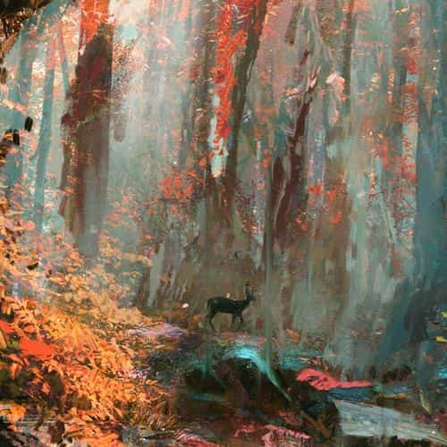 rain deer forest illustration art wadim kashin