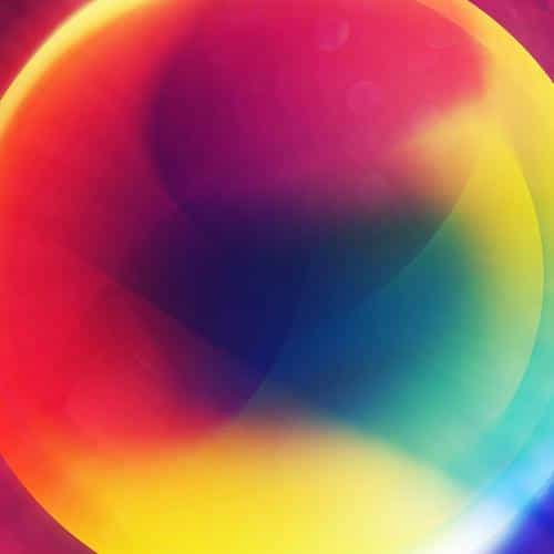 rainbow circle color digital abstract art pattern
