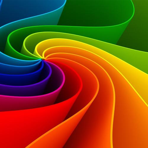 Rainbow color twisted waves wallpaper