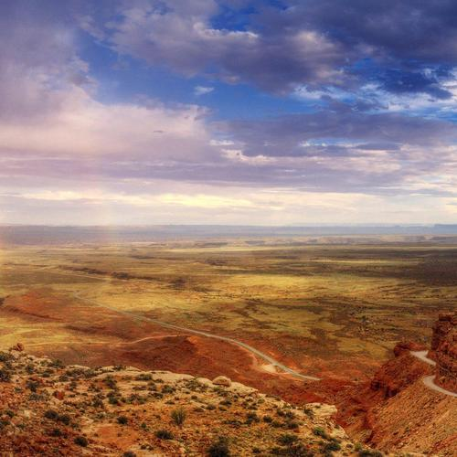 Rainbow in valley of the gods