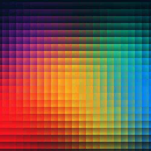 rainbow pixels pattern