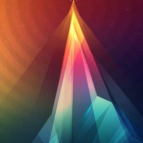 rainbow tower graphic digital pattern