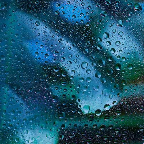 rainy bubble blue window pattern background