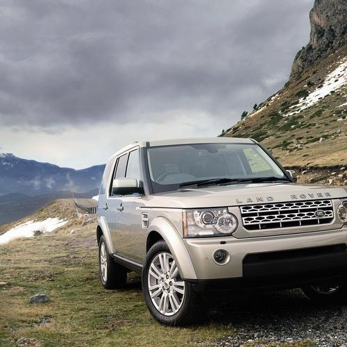 Range Rover on the mountain
