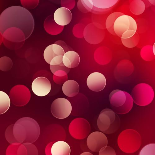 Red abstract bubbles wallpaper