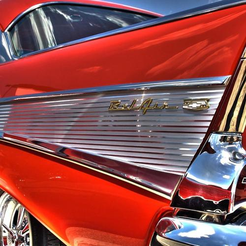 Red antique chevy