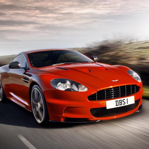 Red Aston Martin DBS wallpaper