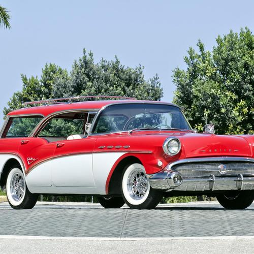 Red Buick Century Caballero Wagon wallpaper
