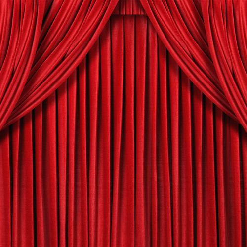 Red curtain wallpaper