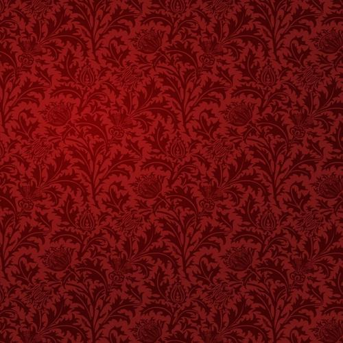 Red damask pattern wallpaper