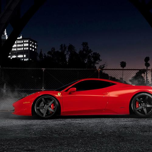 Red Ferrari 458 italia wallpaper