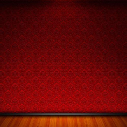 Red room wallpaper